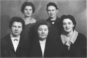 Коллектив кафедры в 1962 году