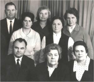 Коллектив кафедры в 1975 году