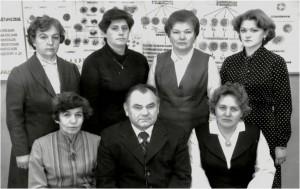 Коллектив кафедры в 1985 году