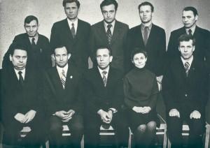 Коллектив кафедры в 1974 году