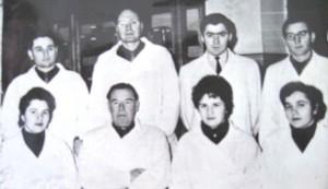 Коллектив кафедры в 1964 году