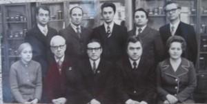 Коллектив кафедры в 1978 году