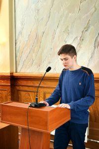 студент группы №5 Кохнюк Дмитрий рассказывает о Герое Советского Союза Бескине И.С.