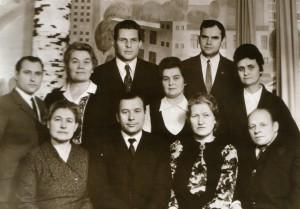 Коллектив кафедры в период работы заведующим Михайловым Б.П.