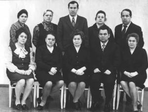 Cотрудники кафедры микробиологии и вирусологии в 1976 году