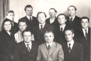 Коллектив кафедры в 1969 году