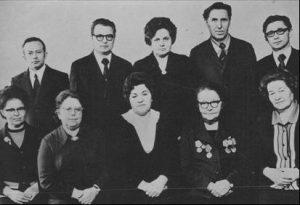 Сотрудники кафедры в 1977 году