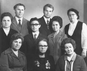 Коллектив кафедры в 1972 году