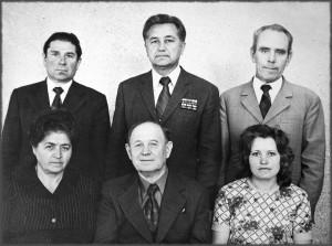 Коллектив отдела кадров в 70-е годы