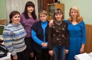 Коллектив планово-экономического отдела (в 2013 году)