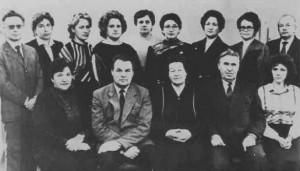 Сотрудники кафедры в 1989 году