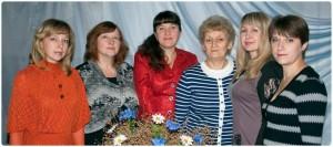 Слева направо: Хведонцевич Р.Ф., Захаренко Н.Н., Долженкова Е.А., Ульянская В.М., Гуйван В.В., Барай Т.А.