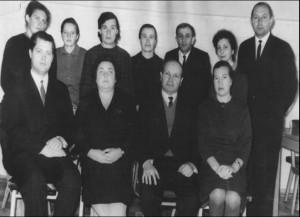 Коллектив сотрудники кафедры, 1967 год