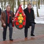 Церемония возложения цветов и венков в  День защитников Отечества и Вооруженных Сил Республики Беларусь