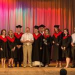 Фотография с студентами-выпускниками 2-й учебной группы с ректором академии доктором сельскохозяйственных наук Гавриченко Николаем Ивановичем