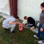Студенты осваивают навыки проведения дезинфекции