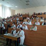 Студенты и преподаватели КрасГАУ. Лекцию читает доцент Т.В. Павлова