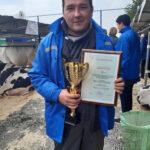 Выпускник академии Андрей Яцура, зоотехник ОАО «Новые Горяны» Полоцкого района представил на выставке корову Умка.