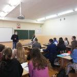 Доцент Коробко Александр Викентьевич проводит профориентационную работу среди учащихся 11-х классов в школах Мядельского района Минской области
