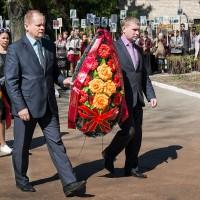 Церемония возложения венков к Мемориальным знакам. Участие в акции «Бессмертный полк»