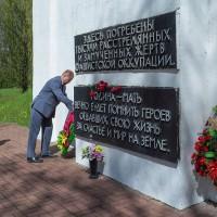 Церемония возложения венков к Мемориальным знакам. «Великой Победе – 75!»