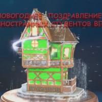 Новогоднее поздравление иностранных студентов УО ВГАВМ!