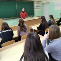 Профориентационная работа сотрудников кафедры внутренних незаразных болезней с учащимися школ Крупского района