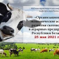 Проведение кафедральной научно-практической конференции «Организационно-экономические аспекты развития скотоводства  в аграрных предприятиях Республики Беларусь»